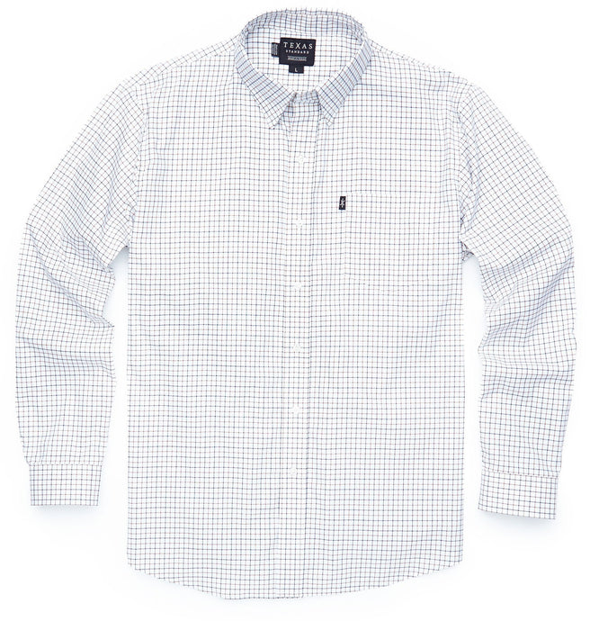 Texas Standard MEN - SHIRTS - BUTTON DOWNS Texas Standard, Texas Check Sport Shirt - Parker, Brown/Blue Tattersall