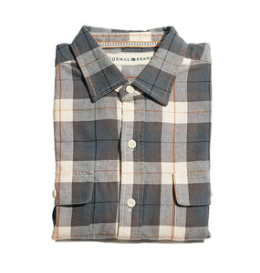 The Normal Brand MEN - SHIRTS - BUTTON DOWNS The Normal Brand, Bernard Flannel Button Up Shirt, Grey