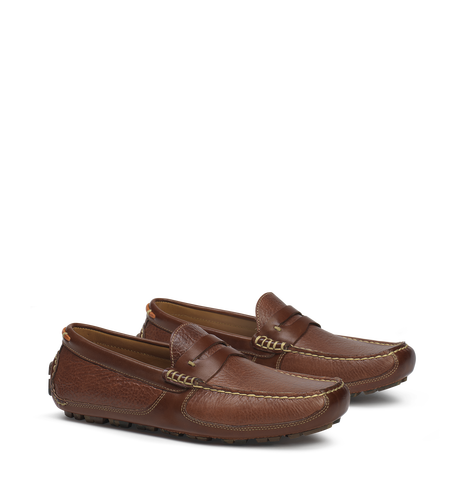 Trask FOOTWEAR - LOAFERS Trask, Derek, Saddle Tan American Bison