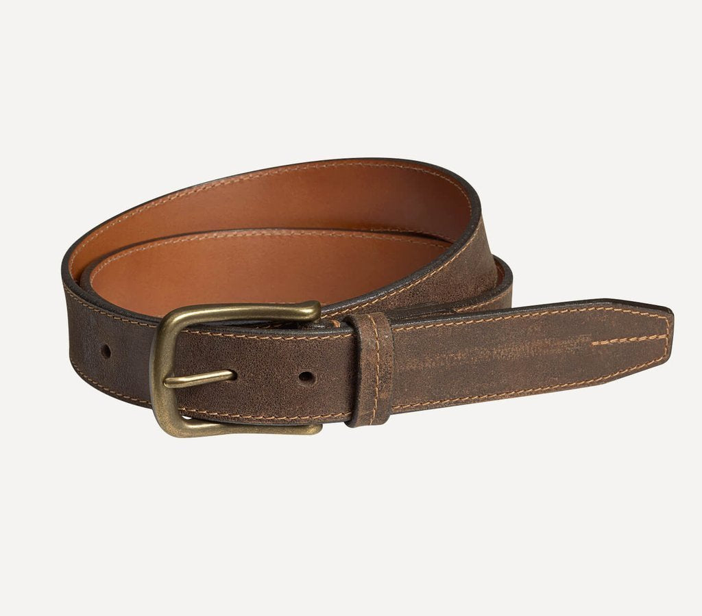 Trask ACCESSORIES - BELTS - LEATHER Trask, Finley Belt, Walnut American Steer