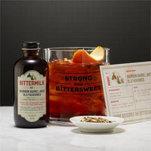 Load image into Gallery viewer, Two's Company HOME - DRINKWARE - WHISKEY GLASS Two's Company, Bittermilk Drink Mixer Set, No.1 Bourbon Barrel Aged Old Fashioned