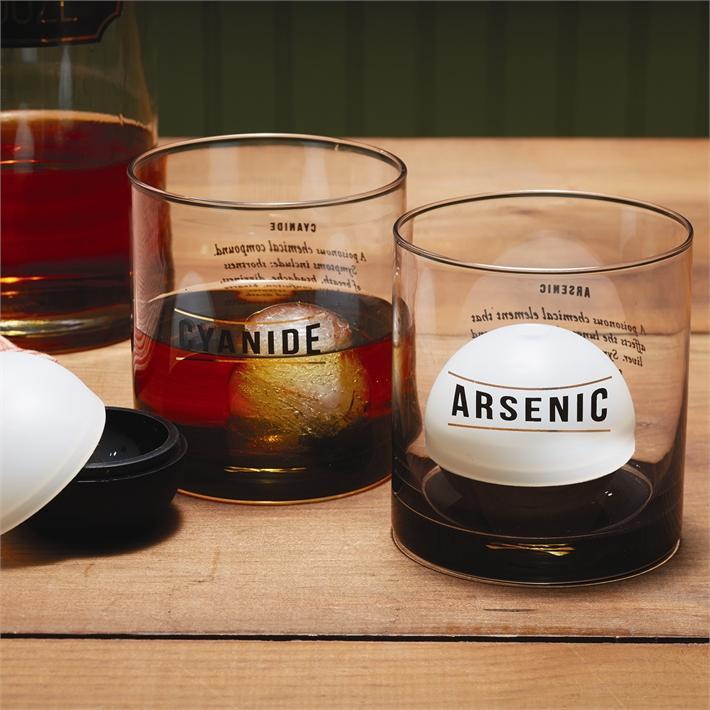 Two's Company HOME - DRINKWARE - WHISKEY GLASS Two's Company, Name Your Poison Glasses Set