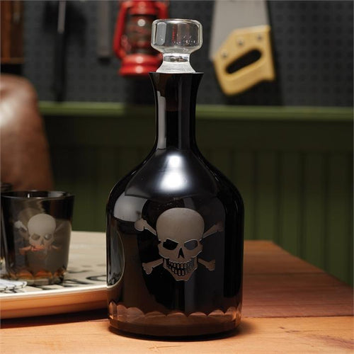 Two's Company HOME - DRINKWARE - DECANTERS Two's Company, Skellington Skull and Crossbones Decanter