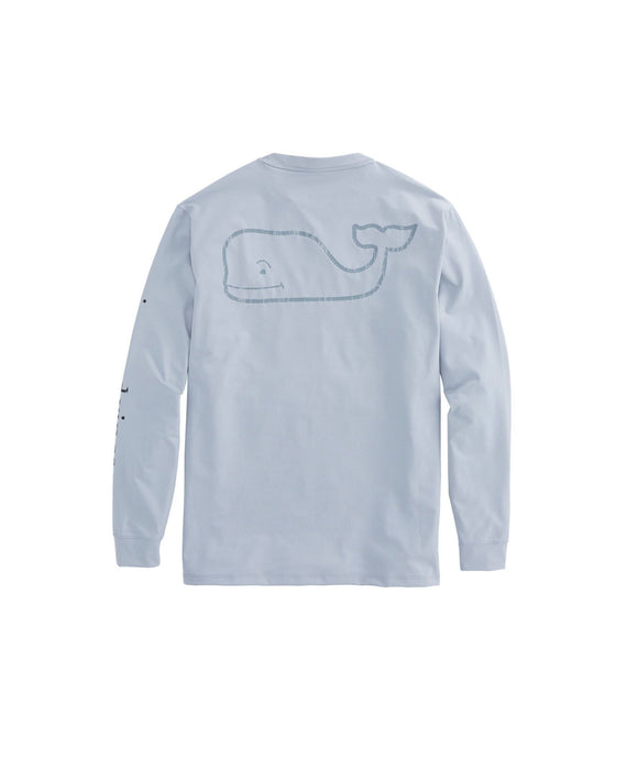 Vineyard Vines MEN - SHIRTS - FISHING SHIRTS Vineyard Vines, Long-Sleeve Performance Sport T-Shirt, Gray Heather