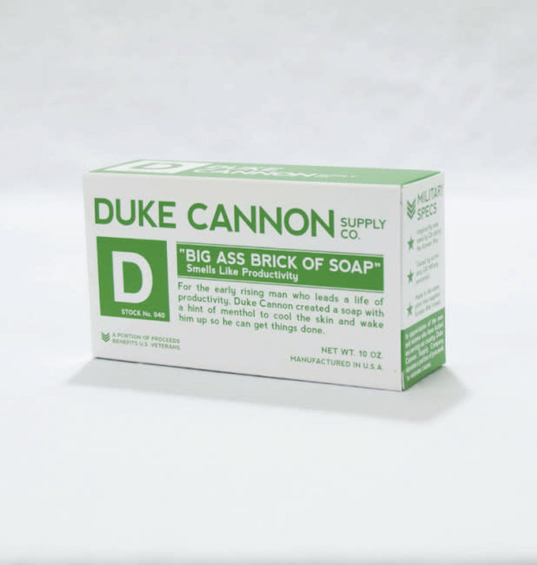 Duke Cannon ACCESSORIES - GROOMING - SHOWER White / 10 Oz Duke Cannon, Big Ass Brick of Soap - Productivity