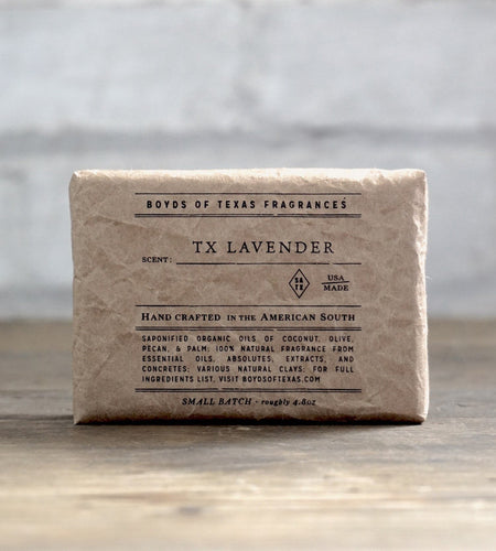Boyd's of Texas Fragrances ACCESSORIES - GROOMING - SHOWER White / 4.8 oz Boyd's of Texas Fragrances, TX Lavender - Natural Bar Soap