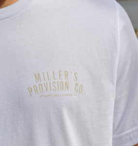 Miller's Provision Co. MEN - SHIRTS - SHORT SLEEVE T-SHIRTS White / L Miller's Provision Co., Old School Camo Pointer Short Sleeve T-Shirt, White