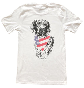 Miller's Provision Co. SALE White / XXL Miller's Provision Co., American Pointer Short Sleeve T-Shirt, White