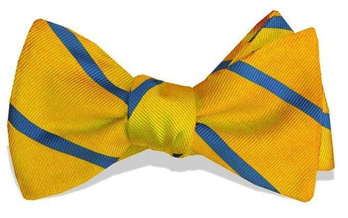 Bird Dog Bay SALE Yellow / OS Bird Dog Bay, Shipley Stripe Bow Tie, Yellow