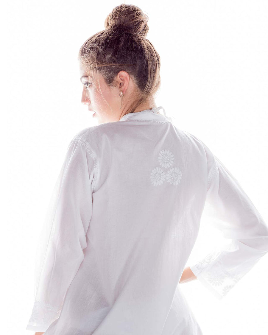 BUTTON DOWN EMBROIDERED COVER UP BY PRAIAVE