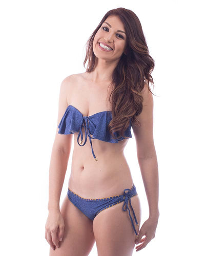DENIM LACE UP BOTTOM MAR DALI B006C1
