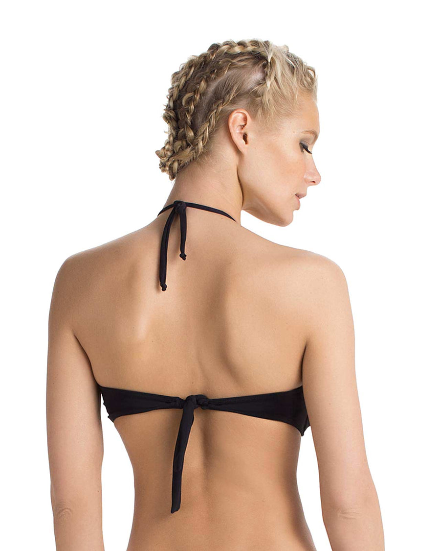 BLACK BASICO BANDEAU BIKINI TOP BY TOUCHE