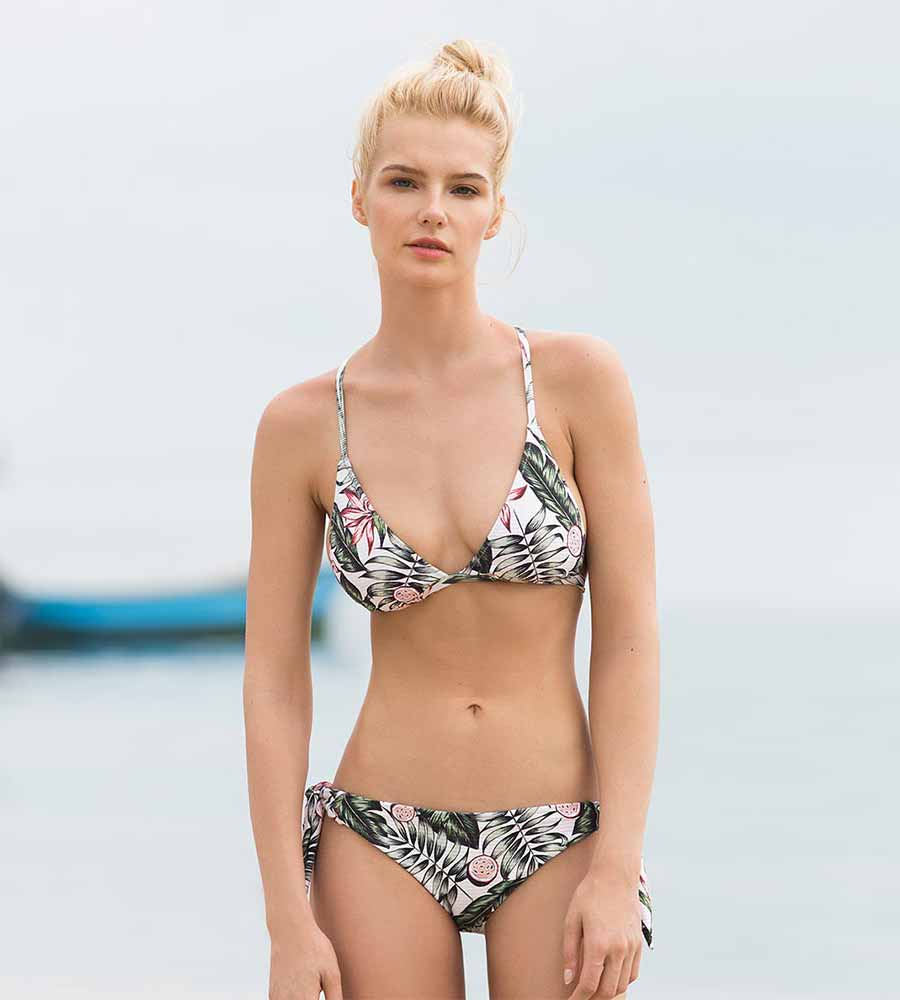 PALM PARADISE TIE SIDE BOTTOM BY TOUCHE