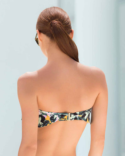 AQUARELLE RUFFLE BANDEAU TOP TOUCHE 0B22072