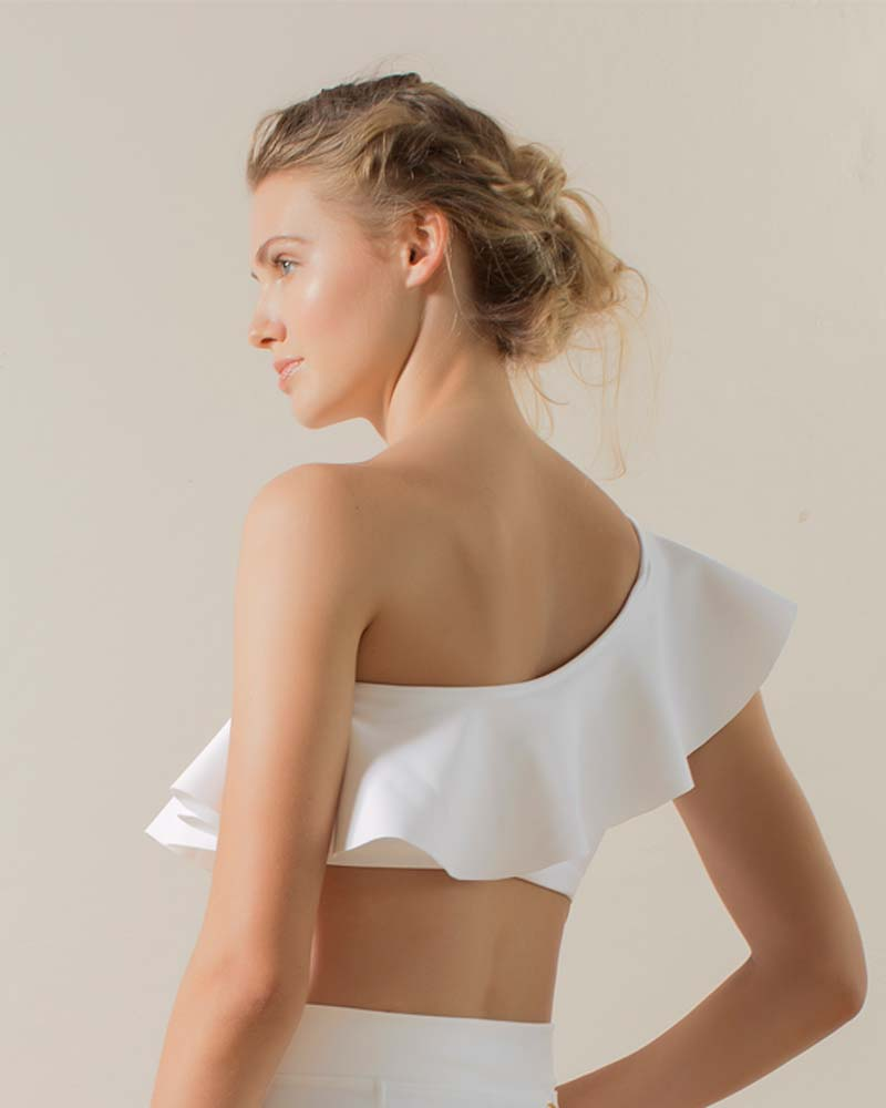 MILKY WAY ONE SHOULDER TOP BY TOUCHE