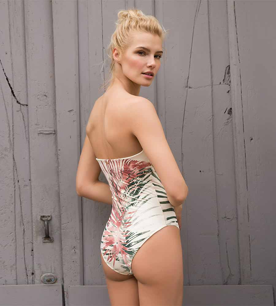 LEAFY DREAMS BANDEAU ONE PIECE BY TOUCHE