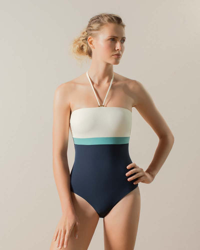 SEA BREEZE BANDEAU ONE PIECE TOUCHE 0E54082