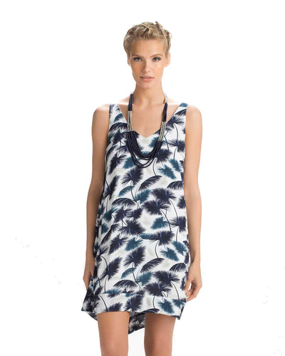 INDIGO PALM SHORT DRESS TOUCHE 0F38081