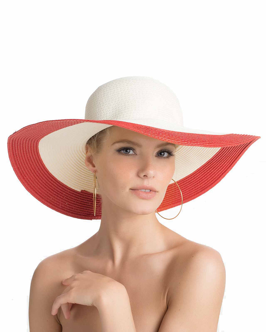 RED SUN HAT TOUCHE 0S25081