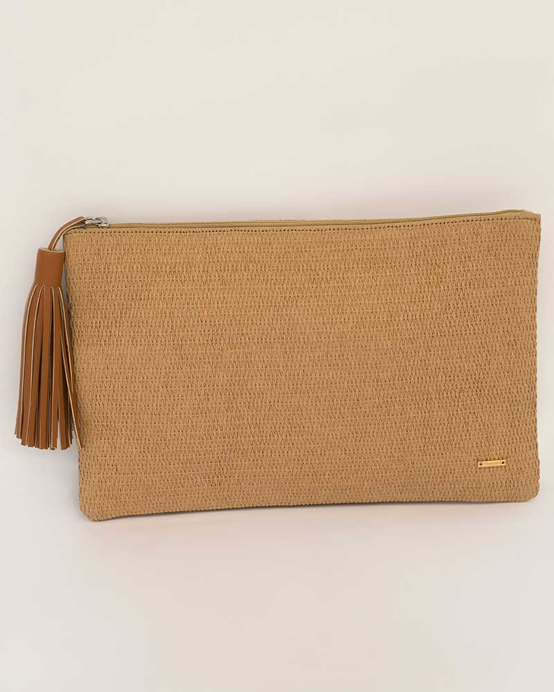 BURLAP CLUTCH BY TOUCHE