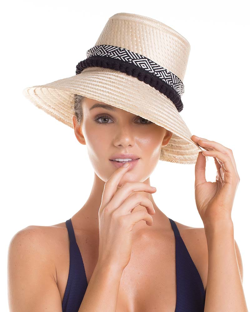 ETHNIC RIBBON SUMMER HAT TOUCHE 0S64083