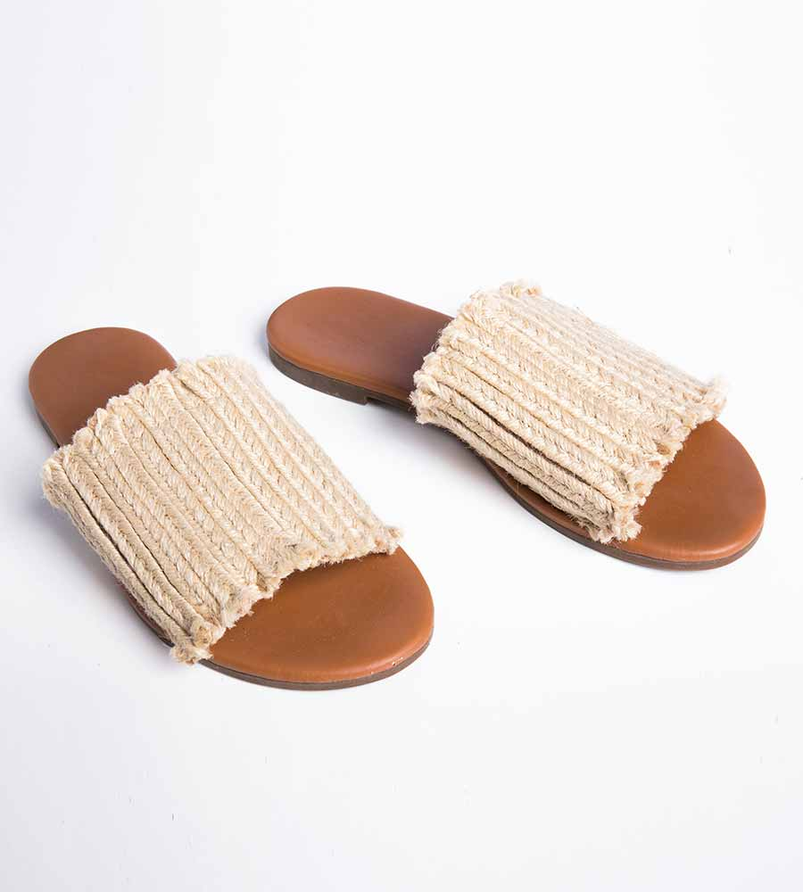KHAKI RAGLAN SANDALS TOUCHE 0S89091