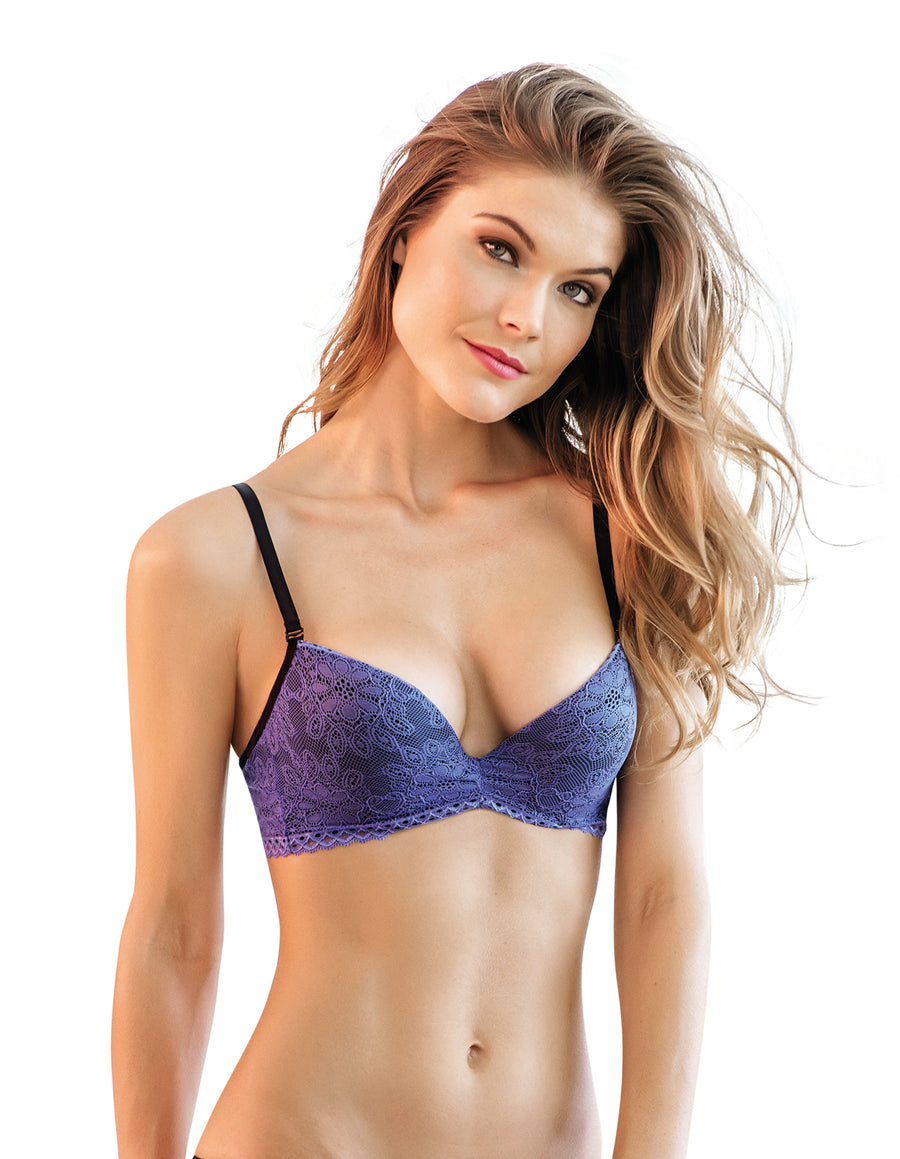 BLUE LACE USH UP BRA KIBYS 10411.BLU