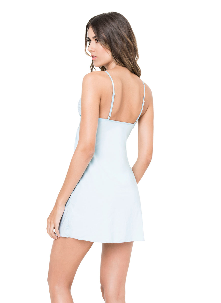 LIGHT BLUE ROMANTIC SLIP KIBYS 10667.BLU