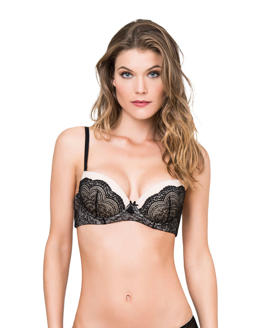 BLACK SEXY AND SWEET BRA KIBYS 10721.BLK