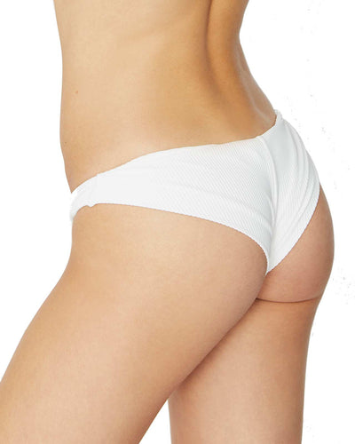 WHITE GREER RIBBED BOTTOM FRANKIES BIKINIS 11109-WHT