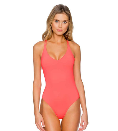 BRIGHT GUAVA VERONICA ONE PIECE SUNSETS 112BRGU
