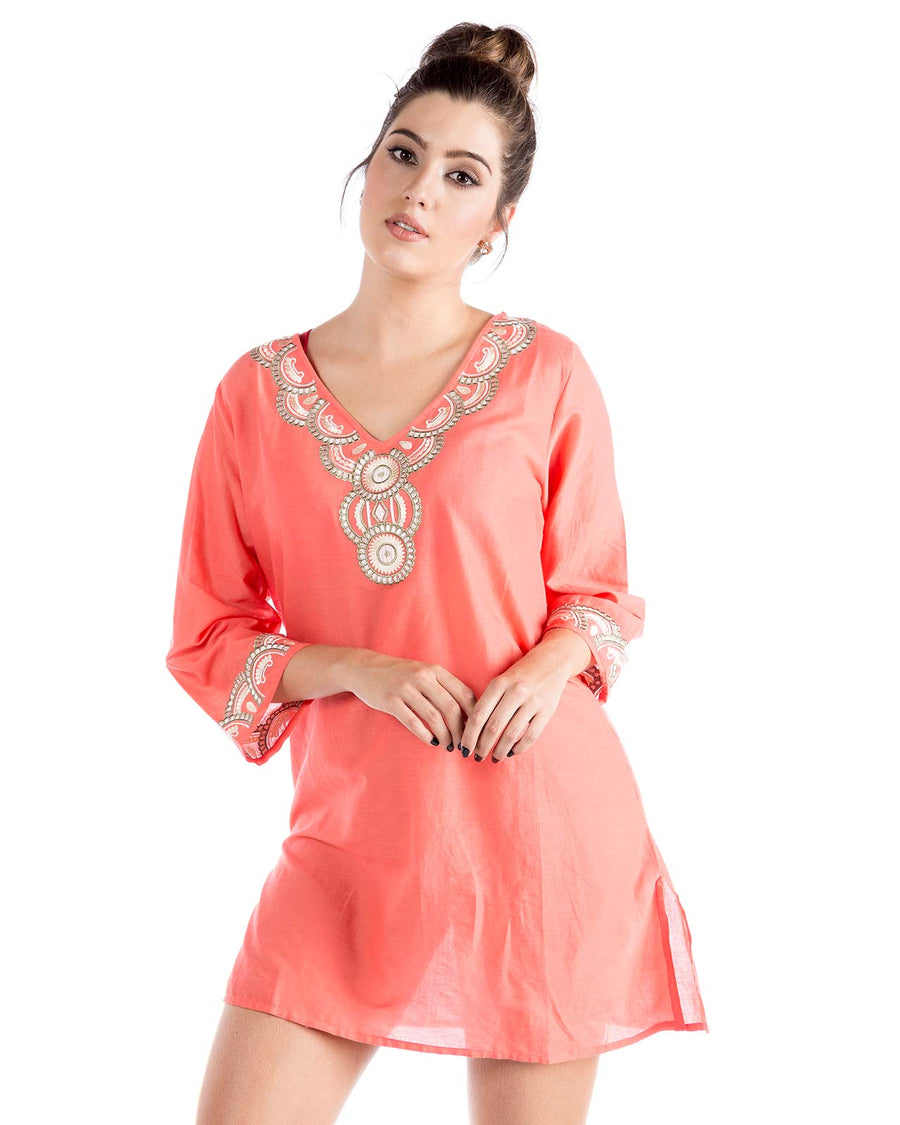 CORAL TUNIC BY PRAIAVE