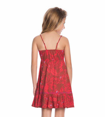 COLORFUL RED SEA GIRLS DRESS MAAJI 1696KKC01