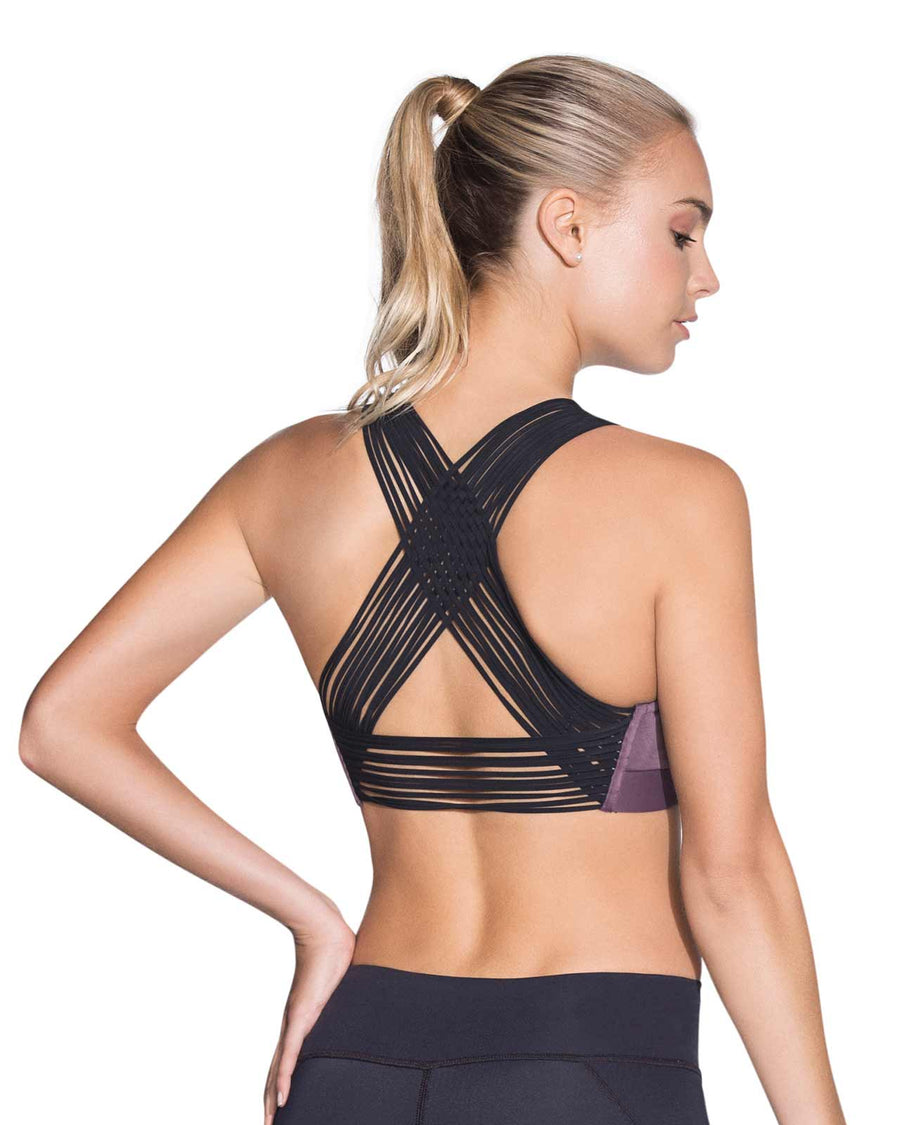 RIPPLE AMETHYST MEDIUM IMPACT SPORTS BRA MAAJI 1779ASB03