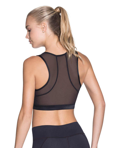SPRING SPROUT BLACK MEDIUM IMPACT SPORTS BRA MAAJI 1782ASB03