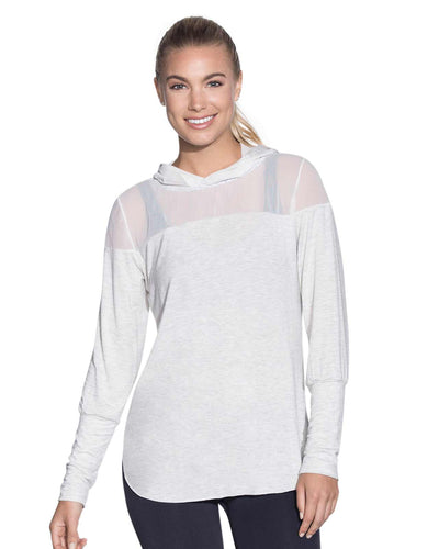 SHEER WAVES CEMENT HOODED LONG SLEEVE LAYER MAAJI 1834ALY02
