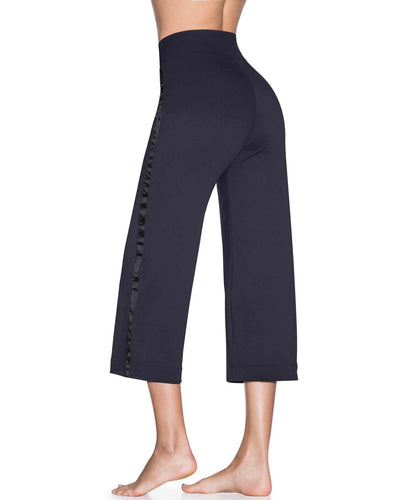 STEP BACK BLACK EMANA HIGH RISE FLOOD PANT MAAJI 1841APA01