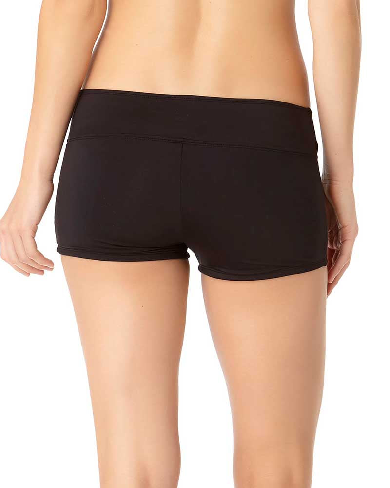 RICH BLACK TWIST FRONT BOYSHORT BOTTOM BY COLE OF CALIFORNIA