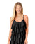 RICH BLACK TIERED RUFFLE TANKINI TOP BY COLE OF CALIFORNIA