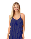INK NAVY TIERED RUFFLE TANKINI TOP COLE OF CALIFORNIA 18CT22001-NAVY