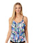 MOROCCAN SUN MULTI TIERD RUFFLE TANKINI TOP BY COLE OF CALIFORNIA