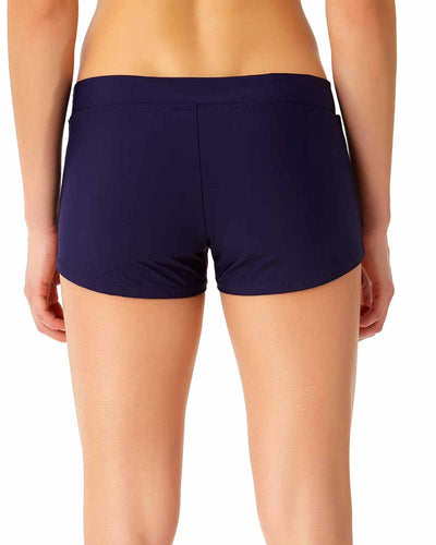 SNAP OUT OF IT BOY SHORT BIKINI BOTTOM ANNE COLE 18LB30201-NAVY