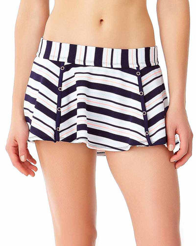 SNAP OUT OF IT SKIRTED BIKINI BOTTOM ANNE COLE 18LB40202-MULT