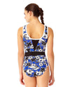 HAWAIIAN PUNCH HIGH NECK SPLICED ONE PIECE ANNE COLE 18LO01280-MULT