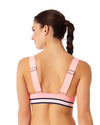ELASTIC SOLIDS HOT TAMALE ELONGATED TRIANGLE BIKINI TOP ANNE COLE 18LT10001-COR