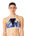 HAWAIIAN PUNCH HIGH NECK BIKINI TOP ANNE COLE 18LT10880-MULT