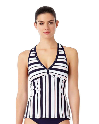 SNAP OUT OF IT RACER MESH BACK TANKINI TOP ANNE COLE 18LT20802-MULT