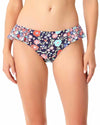 LAZY DAISY NAVY SIDE FLOUNCE BIKINI BOTTOM ANNE COLE 18MB31160-NAVY
