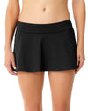 LIVE IN COLOR BLACK NOIRE ROCK SWIM SKIRT ANNE COLE 18MB40001-BLK