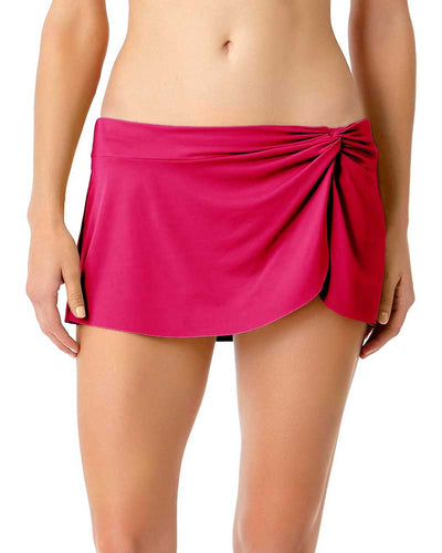 LIVE IN COLOR BERRIED TREASURES SARONG SWIM SKIRT ANNE COLE 18MB40201-BERY